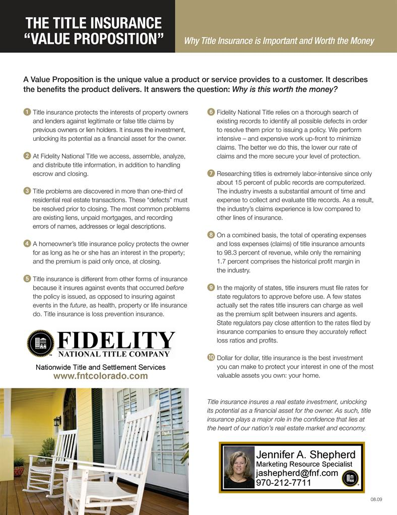 Why Title Insurance is Important | Fidelity National Title Company ...